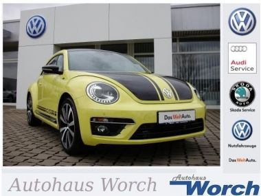 NOUVEAU +++ VW Voiture d'occasion: VW New Beetle GSR R Line/Xenon/FenderSound/DAB+/PDC/GR für 22969 € +++ Les meilleures offres | Berline, 4304 km, 2015, Essence, 220 CV, Jaune | 134105867 | auto.de