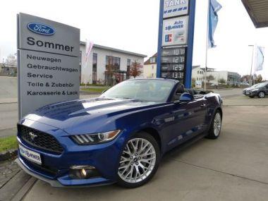 NOUVEAU +++ Ford Voiture d'occasion: Ford Mustang Convertible 2.3 EcoBoost, NAVI für 38950 € +++ Les meilleures offres | Cabriolet/Décapotable, 11431 km, 2015, Essence, 317 CV, Bleu | 137654869 | auto.de