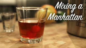 Mixing A Manhattan