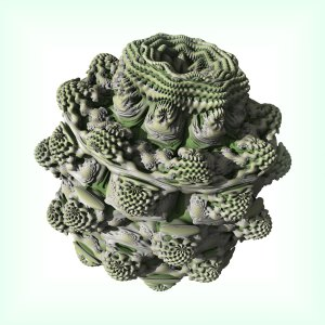 A 9th Power Mandelbulb, a 3D Fractal of the Mandelbrot Set
