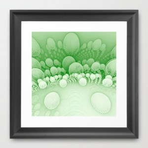 """Sub Orbit"" - Mandelbulb Art - Framed Print"