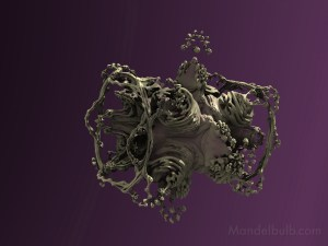 """Rock Rotation"" 3D Fractal Art, By Kurt Dahlke, 2012"