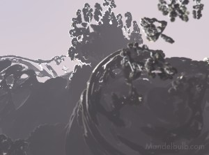 """Fog on Rock Rotation II"" 3D Fractal Art, By Kurt Dahlke, 2012"