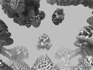 3D Fractal Art, the Mandelbulb, 2012, original image by Matthew Haggett