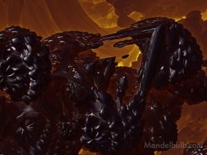 """""""Bleak Chevron"""" 3D Fractal Art, By Matthew Haggett, 2012"""