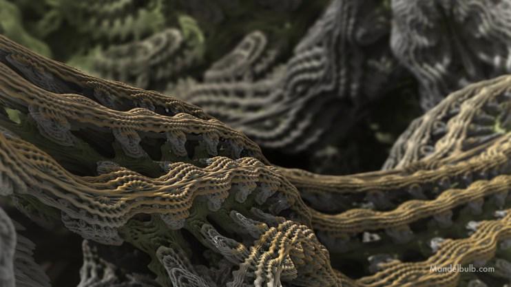 """Cascade Advance II"" 3D Fractal Art, By Matthew Haggett 2012"