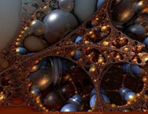 Reflecting on the Past, 3D fractal art by Ricky Jarnagin/DsyneGrafix (c)