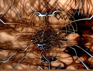 Broken Etch-A-Sketch, 3D fractal art by Ricky Jarnagin/DsyneGrafix (c)
