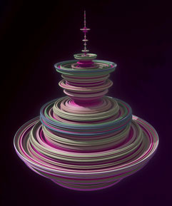 Quaternion, 3D fractal art example
