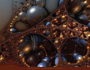 Reflecting on the Past, 3D fractal art by Ricky Jarnagin/DsyneGrafix (c)