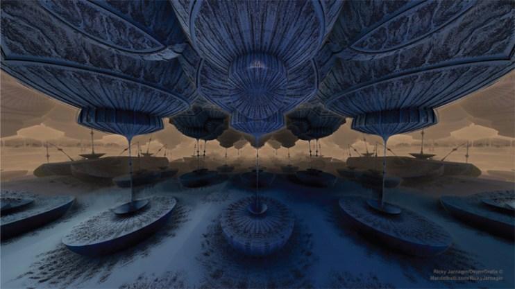 Feeling Blue, 3D fractal art by Ricky Jarnagin/DsyneGrafix