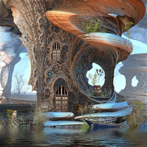 """Fantasy Tree Cottage"", by Hal Tenny"