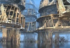 """Abandoned Swamp Village"", by Hal Tenny"