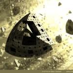 """Menger Explosion"" by Marc Vanlindt. 3D fractal art created with Mandelbulb 3D."