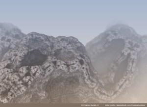 """Blasted Landscape on a Metallic Planet"" by Charles Kunkle Jr"