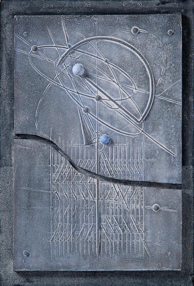 Walter Valentini, Tracce 2, Terracotta, 67 x 45, 2011