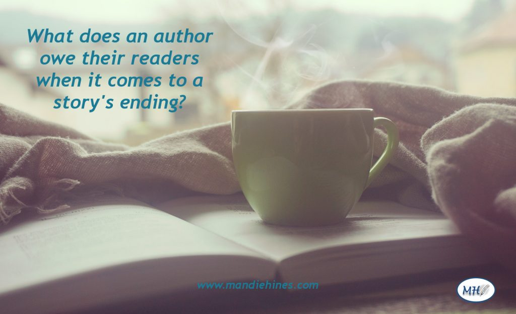 An author's duty to provide a satisfying ending for their readers.