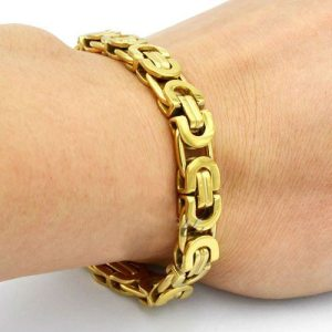 9mm-Fashion-Jewelry-Mens-Boys-Gold-Tone-Byzantine-Link-Chain-Stainless-Steel-Bracelet-Free-Shipping-SC07 (4)