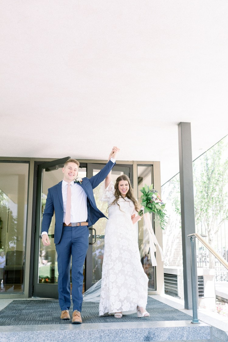 Salt Lake Temple Wedding | Zach + Matisse