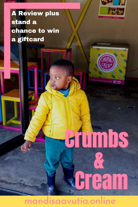 Crumbs and cream, flavours, child-friendly date spot.
