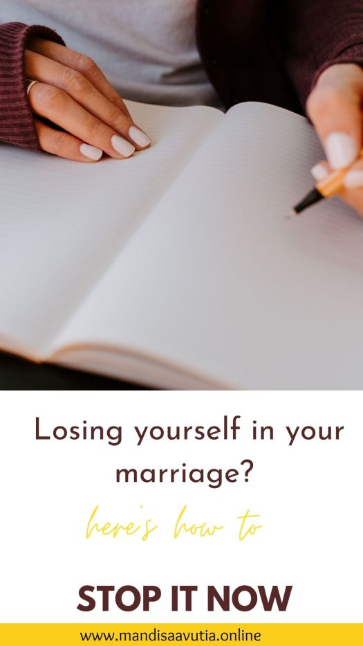 lose yourself in your marriage and motherhood