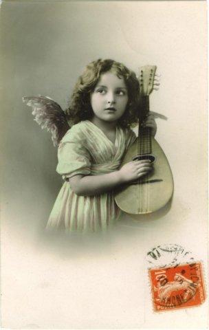 Frohe Weihnachten - Auf das Bild klicken für mein Postkartenalbum mit Mandoline
