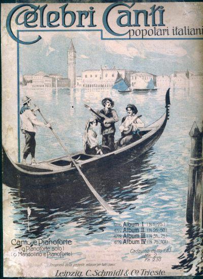 Titelblatt Celebri Canti Populari Italiani