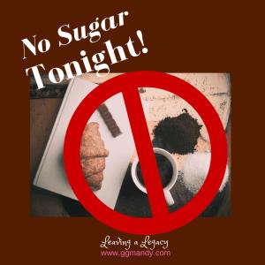 no sugar tonight