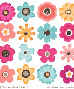 Bohemian Cute Flower Clipart