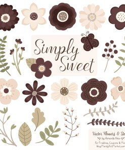 Chocolate Cute Flower Clipart