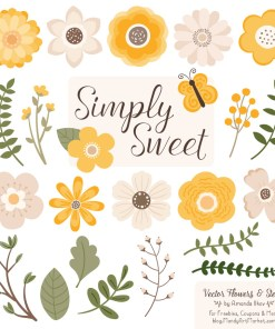 Sunshine Cute Flower Clipart