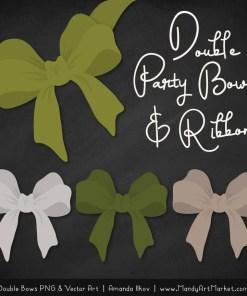 Free Avocado Party Bow Clipart
