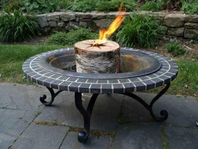 Bonfire log from Luca's Garden