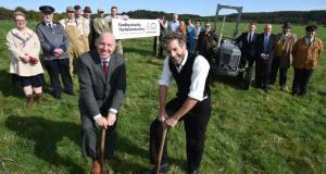 Groundbreaking ceremony - Beamish Museum director Richard Evans and HLF's Ivor Crowther