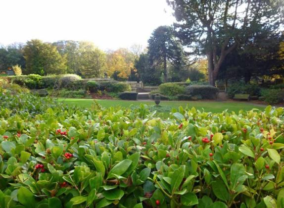 The formal garden, Saltwell Towers, Saltwell Park, Gateshead