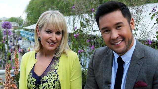 Nicki Chapman and James Wong. Picture; BBC