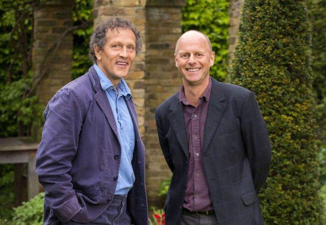 Monty Don and Joe Swift. Picture; BBC/Glenn Dearing