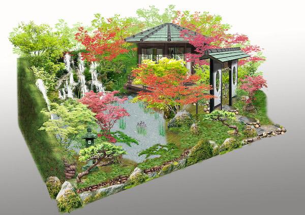O-mo-te-na-shi-no-niwa - The Japanese Hospitality Garden. Picture; RHS MIC