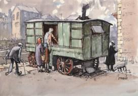 Berriman's Chip Van by Norman Cornish. Picture; Beamish Museum