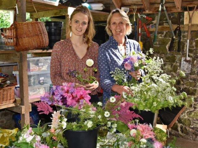 Cherrytrees Flower Farm's Rosie and Amanda. Picture; Flowers from the Farm