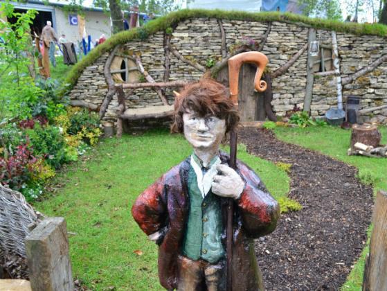 The Shire by Horticap with a papier mache Bilbo