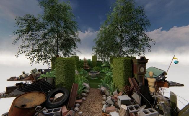 Calm Amidst Chaos show garden 2019 Hampton Court