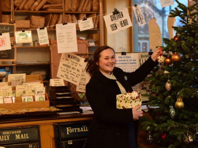 Seasonal shopping! Picture; Beamish Museum