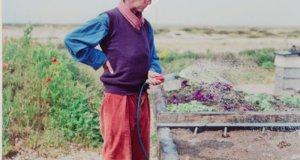 Derek Jarman at Prospect Cottage circa 1990. Picture; Howard Sooley