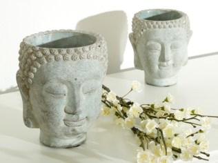 Grey Buddha Head Planter. Picture; Melody Maison
