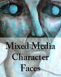 Mixed media character faces online workshop mandy van goeije