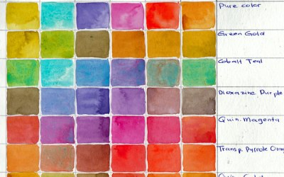Color My Page #2: Qor Watercolor…which colors do you want me to paint in?