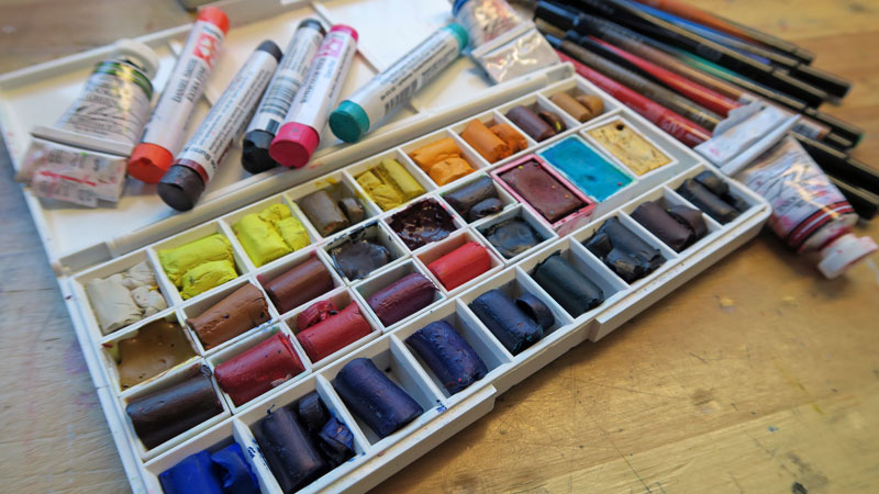 Daniel Smith watercolor sticks in pans