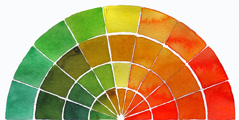 Color wheel and meeting my unknown sister