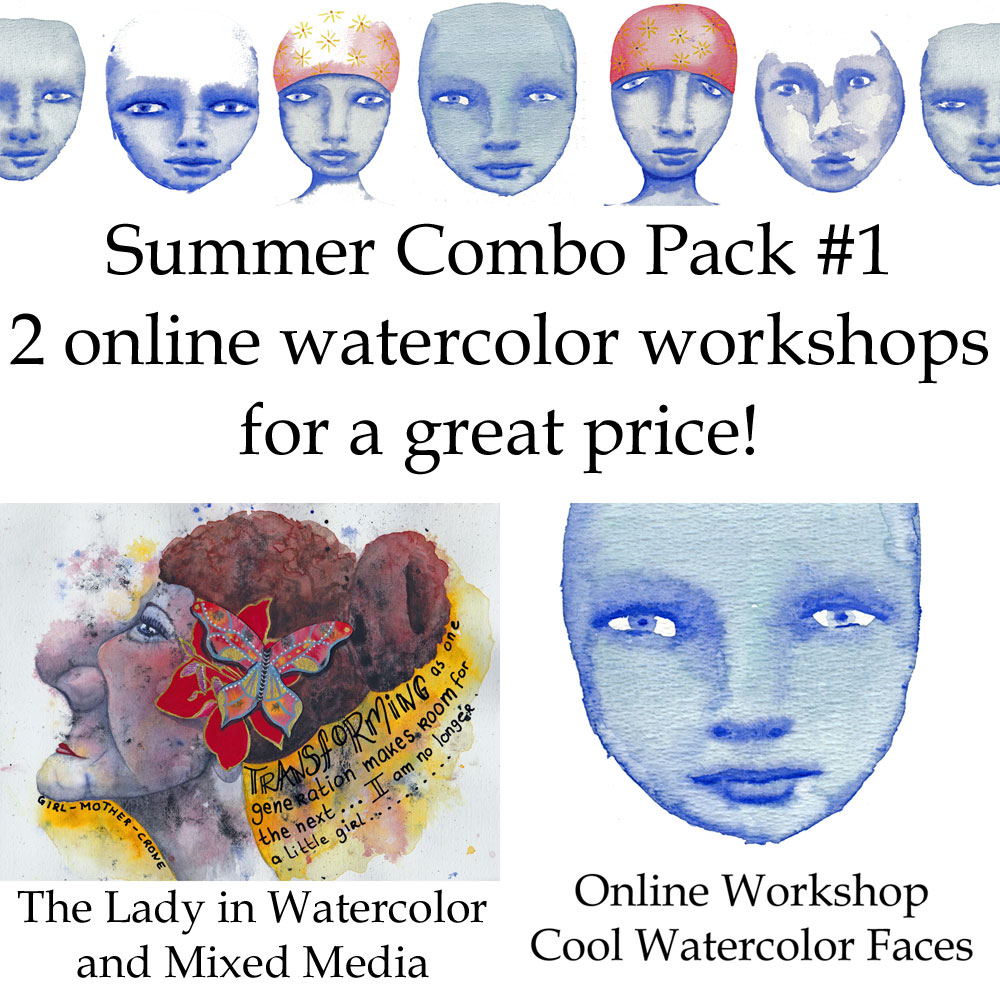 cool watercolor faces combo pack online watercolor workshops by mandy van goeije